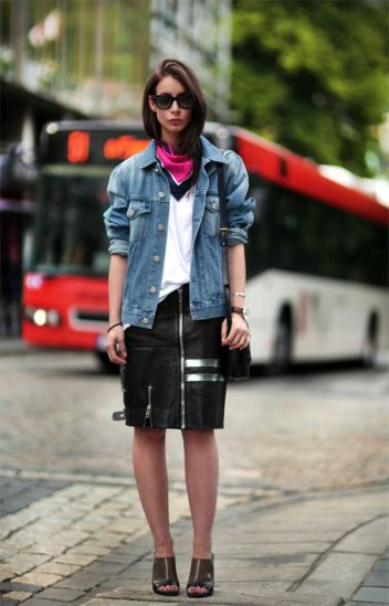 Street Fashion | Street Peeper | Global Street Fashion and Street Style- acne-celine-leather-denim