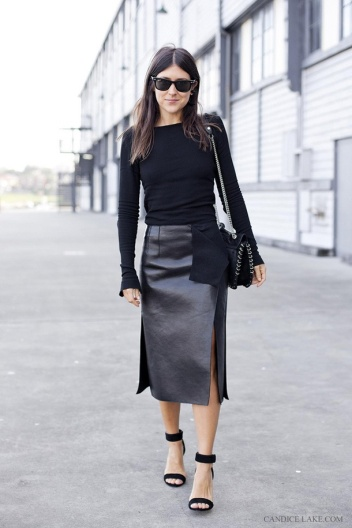 Street Fashion | Street Peeper | Global Street Fashion and Street Style - black on black skirt