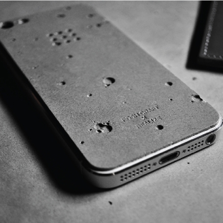 Luna_concrete skin for iphone cover design posh craft