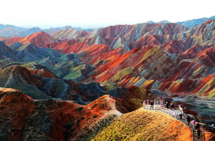 amazing-places-Zhangye Danxia Landform, China