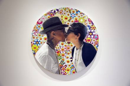 pharrell-williams-girl-exhibition-perrotin-Helen Lasichanh-girlfriend-wife-art