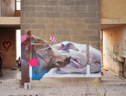 Telmo-Pieper-Miel-Krutzmann-Muralists-imagemakers-streetart-art-street-house-skull-bear