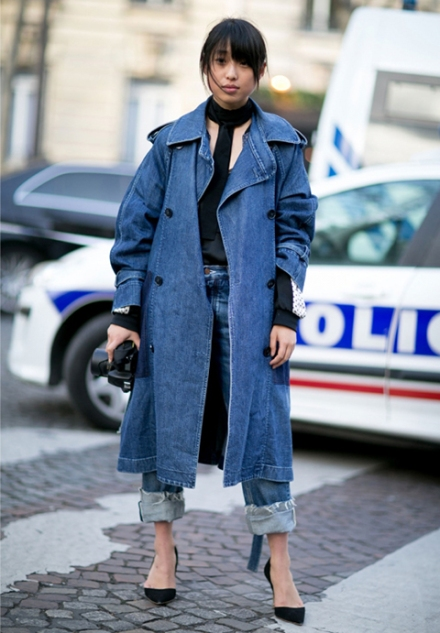 Streetstyle-denim_Paris-fashion-week-aw16-streetwear-jeans-blue-4