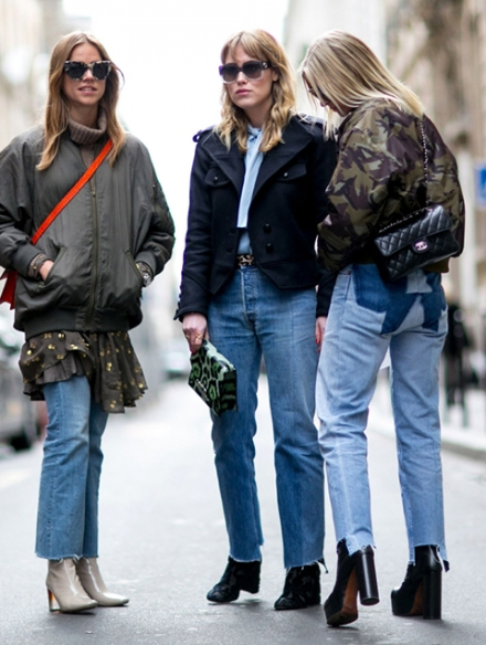 Streetstyle-denim_Paris-fashion-week-aw16-streetwear-jeans-blue